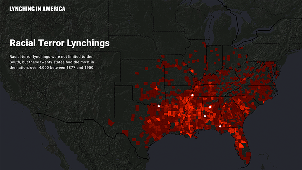 Lynching in America interactive map