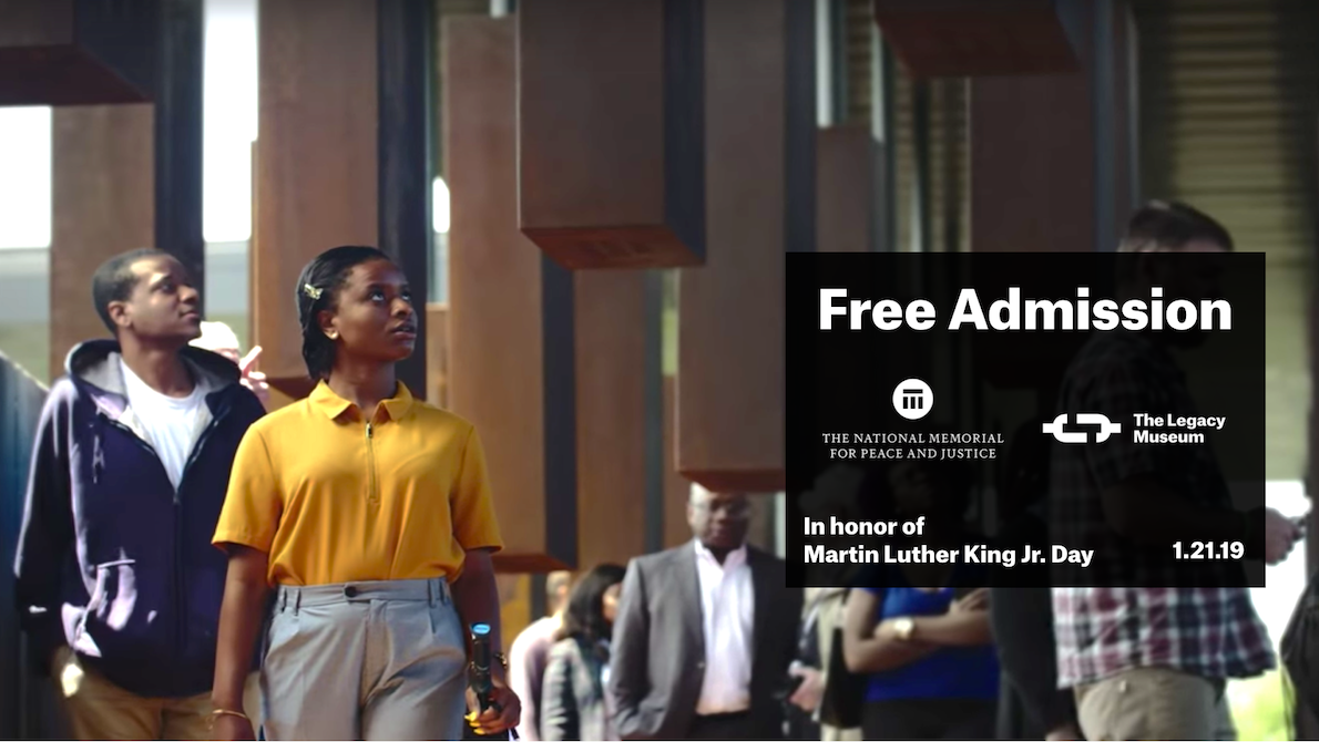Free admission on MLK Day