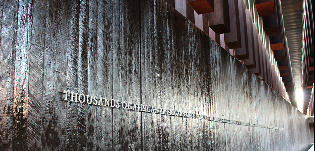 Water wall memorializes thousands of lynching victims whose names will never be known.