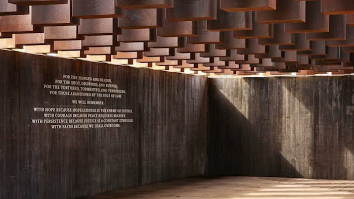 Pictured: Inside the National Memorial for Peace and Justice